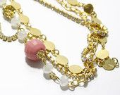 Pink and Golden Harem Necklace