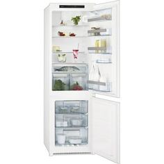 Buy AEG Wide Frost Free Integrated Upright Fridge Freezer - White from Appliances Direct - the UK's leading online appliance specialist Door Hinges, Sliding Doors, Built In Fridge Freezer, Frost Free, Integrated Fridge, Display Lcd, Kartell, Safety Glass, Kitchen
