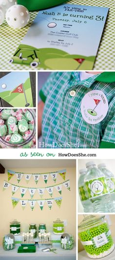 Golf party Custom Stickers Sheet of 12 or 24 by chickabug
