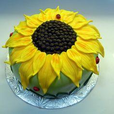 pictures on bing of sunflower sheet cakes | Sunflower Birthday Cake Sunflower cake