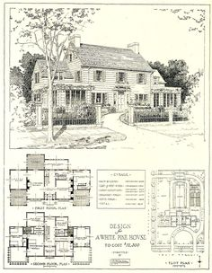1917 Architectural Design. This reminds me of an old farmhouse we rented in PEI.