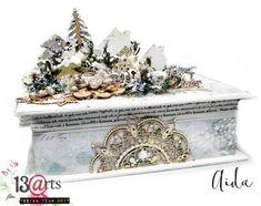 Winter box #mixedmediaart #christmasdecor #christmas #13arts