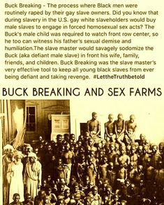 It hurts my heart to post this type of information but you have to know your history.all of your history. I can't only post the good. Black History Books, Black History Facts, Black History Month, Us Slavery, By Any Means Necessary, African American History, Black Power, Black People, Black Is Beautiful