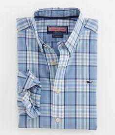 Men's Sport Shirts: Sailing Plaid Collegiate Shirt For Men – Vineyard Vines