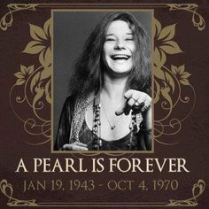 Remembering the beautiful pearl Janis Joplin on the anniversary of her passing. What a performer she was!