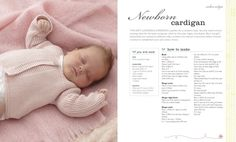 How to knit a cosy cardigan for a newborn baby (from Baby & Toddler Knits Made Easy by DK)