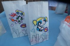 candy bags for PowerPuff Girls theme birthday party