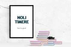 Noli Timere Printable Quote, Wall Art, Don't Be Afraid by PinkPebblePrints on Etsy