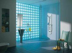 mettons des briques de verre dans la salle de bains | pavé de ... - Briques De Verre Salle De Bain