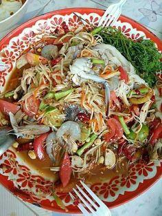 Native Kitchen, Thai Recipes, Healthy Recipes, Authentic Thai Food, Malaysian Cuisine, Laos Food, Thai Street Food, Noodle Salad, Chicken Salad Recipes