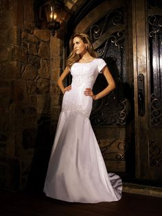Modest Wedding Dress Bridal Designer Style MBD4126