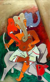 mf hussain horses paintings - Google Search