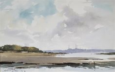 View The Solent from Shalfleet, Isle of Wight another 2 works by Edward Wesson on artnet. Browse upcoming and past auction lots by Edward Wesson. Watercolor Sky, Watercolor Artists, Watercolor Landscape, Landscape Paintings, Watercolor Ideas, Sand Painting, Watercolour Painting, Watercolours, Painting Clouds