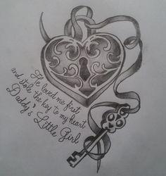 Daddys Little Girl Tattoo, Daddy Daughter Tattoos, Daddy Tattoos, Tattoo For Baby Girl, Tattoos For Daughters, Couple Tattoos, Future Tattoos, Love Tattoos, Beautiful Tattoos