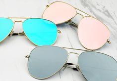 - Flat Lenses - Large Size - 100% UV Protection - Stainless Steel Frame…