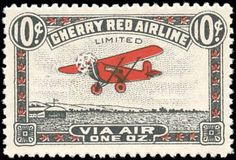 Canada - SC#CL46 (back of book) - 1929 - Cherry Red Airline - Northern Saskatchewan