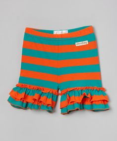 Loving this Caribbean Shore Ruffle Shorties - Infant, Toddler & Girls on #zulily! #zulilyfinds