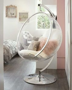 Teen girl room: 30 ideas for decorating a modern room - teen Bedroom Decor For Teen Girls, Cute Bedroom Ideas, Cute Room Decor, Room Ideas Bedroom, Girl Bedroom Designs, Teen Room Decor, Bedroom Themes, Girl Bedrooms, Girls Bedroom Light
