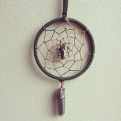 Silver Aura Quartz dream catcher by Marlee Cheyanne Watts  https://www.etsy.com/ca/shop/MarleeCWatts?ref=si_shop