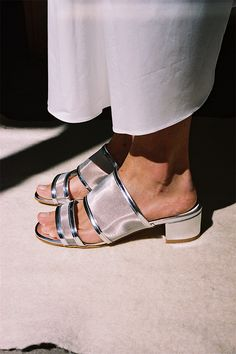 MARTINA SLIDE, SILVER METALLIC