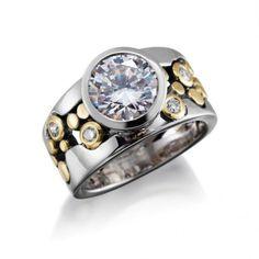 43d199bde06 Custom River Pebbles Diamond Ring