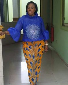 U are today African Wear Dresses, African Fashion Ankara, Latest African Fashion Dresses, African Print Fashion, Africa Fashion, African Attire, African Prints, African Blouses, Fancy Blouse Designs