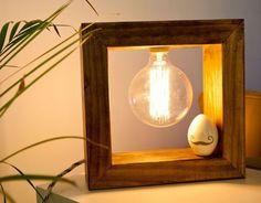 lámparas de mesa hechas a mano, modelo Carlota Wooden Lamp, Wooden Decor, Luminaria Diy, Best Home Interior Design, I Love Lamp, Steampunk Lamp, Pipe Lamp, Diy Photo, Lamp Design