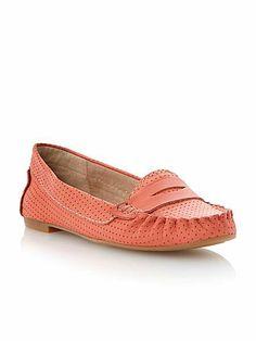 Murphey saddle flat loafer shoes