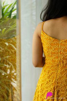 Edge: Skirts & Dresses - House of Ayana Kurti Back Neck Designs, Kurti Sleeves Design, Kurta Neck Design, Neck Designs For Suits, Dress Neck Designs, Designs For Dresses, Blouse Designs, Chudidhar Neck Designs, Designer Party Wear Dresses