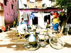 - Milkman's - One of many uses that Indians have found for those handy Udaipur, Biking, Bicycles, Classic Cars, Road Trip, Colors, Holiday, Painting, Art