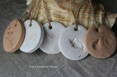 The Charm of Home: Polymer Clay Tags I love these might have to do today!!! Love the shell theme!!