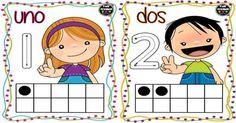 Tarjetas para trabajar los números 1 - 10