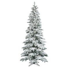 Utica Flocked Pre Lit Led Christmas Tree Products