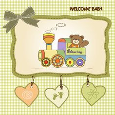 Lovely baby cards vector set 02 - Vector Card free download