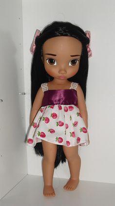 Poca with her new dress Disney Animator Doll, Disney Dolls, Tiana, Merida, Aladdin, Pocahontas, Disney Animators Collection Dolls, New Dolls, Collector Dolls