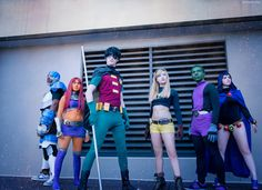 Teen Titans group cosplay and submitted by Titanesque...