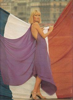 Jean Patou,  ELLE France - September 1st 1975,  Photographed by Oliviero Toscani