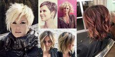 Una lunga selezione di acconciature per capelli corti e mossi da scegliere!