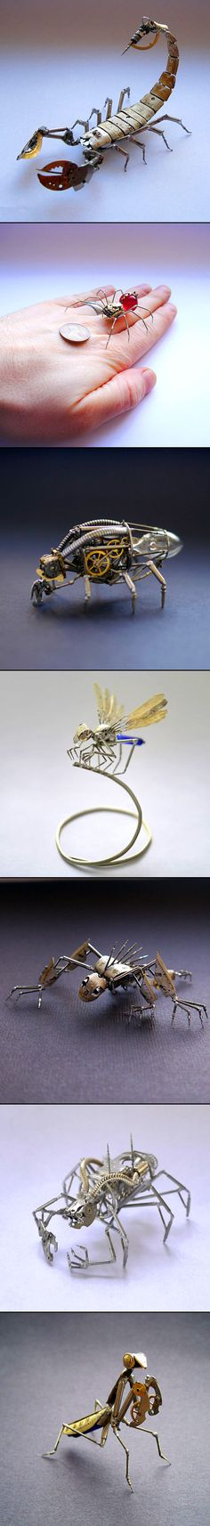 7 Incredible Insects Made Entirely from Mechanical Watch Parts