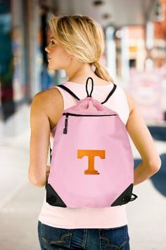 University of Tennessee Pink Drawstring Bag Backpack Tennessee Vols Logo OFFICIAL College Logo Drawstring Bags - For School Beach Gym by Broad Bay. $17.99. This uniquely designed flexible mesh-backed University of Tennessee drawstring bag backpack is the perfect bag for books, a change of clothes, a pair of shoes, or a towel for the pool or beach. The front features sophisticated-look microfiber fabric while the back is a super strong stretchable mesh. The zippered compartm...