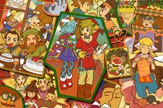 Holidays Zelda characters melting pot... No Zelda?? T^T