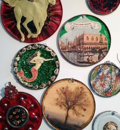 How to Make Jewelry or Decorations Out of Tin Can Lids by Felicia Gustin #tincanjewelry