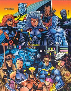 The early '90's X-Men Blue & Gold teams