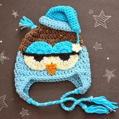 Crochet For Children: Crochet Drowsy Owl Hat Pattern