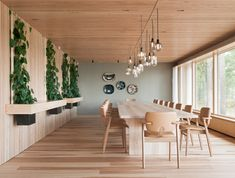 Dining room with a view to Finnish archipelago. Interior design by Sistem Interior Architects. Interior, Contemporary Kitchen, Dining Table, Table, Home Decor, Interior Architect, Interior Design, Meeting Table, Luxury Office