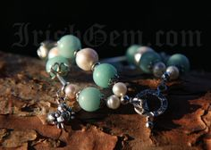 """Blue Lagoon"" Blue Lagoon, Provence, Pearl Earrings, Beaded Bracelets, Gemstones, Pearls, Collection, Jewelry, Pearl Studs"