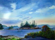 maine island paintings - Google Search