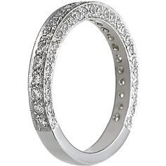 Platinum Luxe Pavé Diamond Ring (3/4 ct.tw.), side view