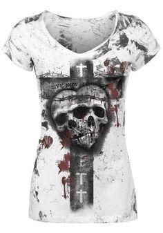 Skull Heart Spike T-Shirt by Alchemy England ~ EMP