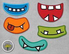 Monster Photo Props, Printable, Instant Download, Monster mouths - PERSONAL USE ONLY